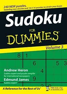 Sudoku For Dummies, Volume 3