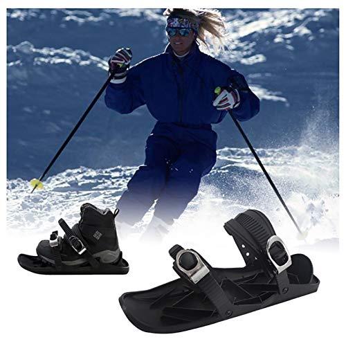 SOAR Raquetas Nieve Mini Patines de esquí para Nieve Zapatos Cortos de esquí Snowboard Skiing Snowboarding para Hombres Mujeres Universal Sports Ski Sitios de esquí al Aire Libre Suministros