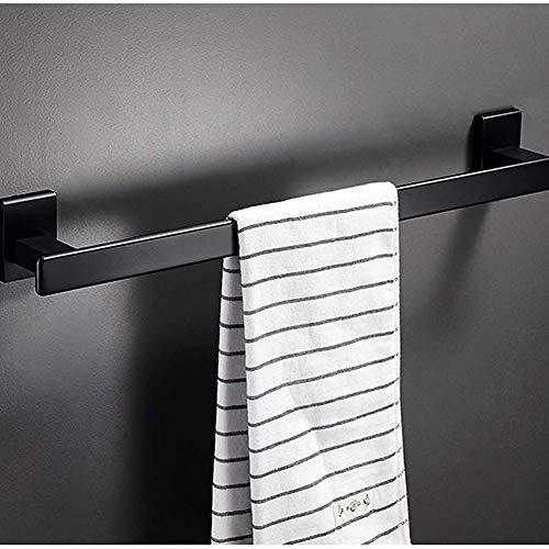 Toalla De Un Solo Disparo, Pared De Toalla De Toalla Hecha De Aleación De Aluminio, Negro, Sin Instalación De Perforación, para Cocina, Baño, Inodoro