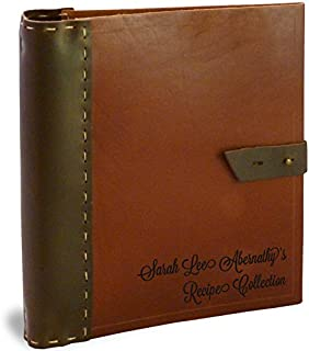 Personalized Recipe Binder Organizer by Cookbook People - Full Page (Rustic Leather, Full Page)
