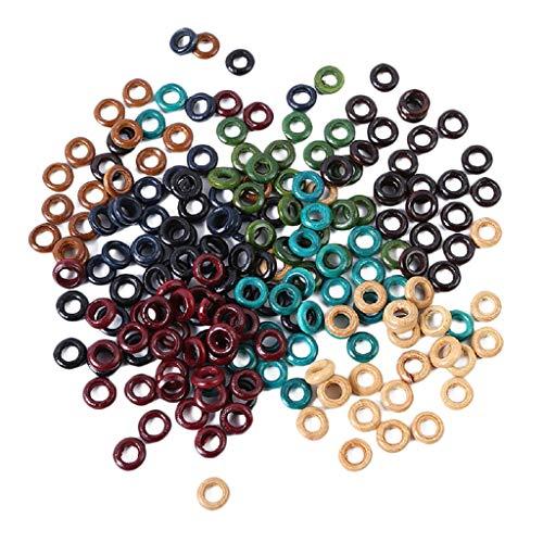 Sharplace 100 Stück Bunte Haarringe Zopf Ringe Haarspitzen Einstellbar Haarschleifen Clips für Dreadlock