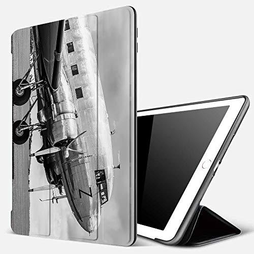 iPad 7 Hülle für iPad 10.2 2019,Vintage-Flugzeug, Old Airliner Cockpit antiken Motor Propeller Flügel und Nostal,Ultradünne Soft TPU Rückseite Abdeckung Schutzhülle mit,Automatischem Schlaf/Aufwach,