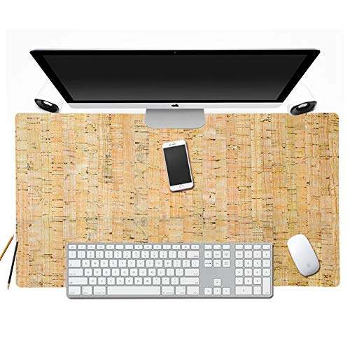 """Boshiho Natural Cork Desk Pad/Mat Blank Top Non-Slip Extra Large Extended Gaming Mouse Pad 26"""" x 15"""" (Cork)"""