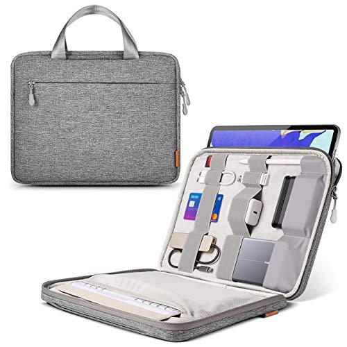 Inateck Laptoptasche Hülle kompatibel mit 12.9 Zoll iPad Pro M1 2021, 13 Zoll MacBook Pro 2020 M1-2016, 13 Zoll MacBook Air 2020M1-2018, 12.3 Zoll Surface Pro X/7/6/5/4/3