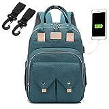 ShiftX4 Multifunktionaler Baby-Wickelrucksack, große Kapazität, USB, Mutterschaft, Outdoor-Helfer grün