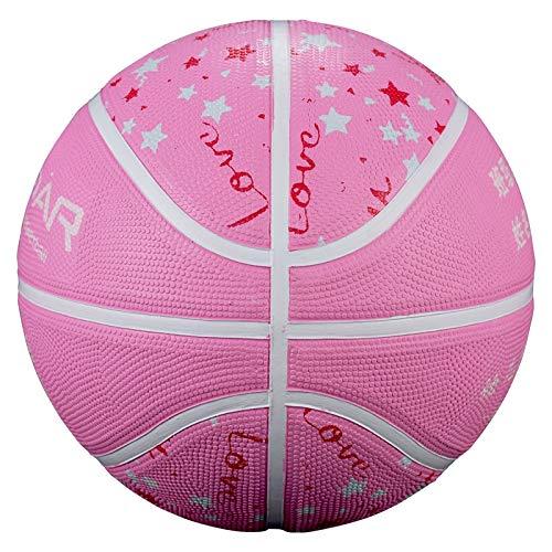 siqiwl Baloncesto al por mayor tamaño de la bola de baloncesto de color rosa barato marca de goma laminada baloncesto para niños baloncesto