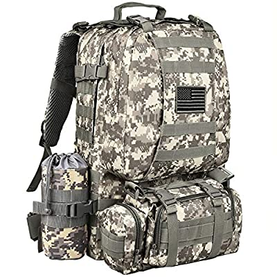 NOOLA Military Tactical Backpack Army Assault Pack Built-up Rucksack Molle Bag ACU