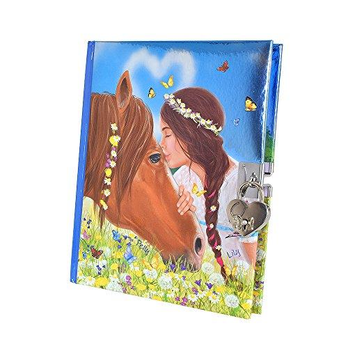 Miss Melody 6367 - Tagebuch mit Stickern, Motiv 1, Pferd u. Mädchen