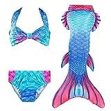 Hatirea Bikini para niñas, el Color no se desvanecerá Traje de baño para niños Traje de baño para niños Poliéster y algodón para Surf Vacaciones, baños, Juegos de rol, Fiestas temáticas(140-140)