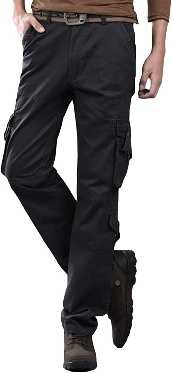 Cloudstyle Mens Cargo Pants Multi-Pocket Military Tactical Ranking TOP2 Very popular!