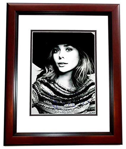 Elizabeth Olsen Signed - Autographed Sexy Actress 11x14 inch Photo MAHOGANY CUSTOM FRAME