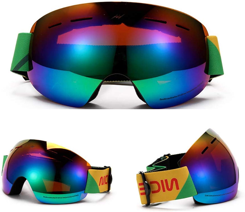 AUMING Ski Snowboard Brille Doppel-Anti-Fog Ski Goggles Riding Goggles Winddicht Motorrad Spiegel Für Skibrillen Damen Herren (Farbe   B)