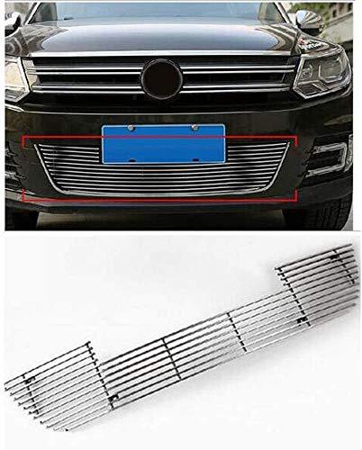 LGNB Auto Front Wabengitter Kühlergrille, Für Vw Tiguan 2010 2011 2012 2013 2014 2015, Stoßstangengrill Luftansauggitter Modifiziertes Zubehör Grille, Abs