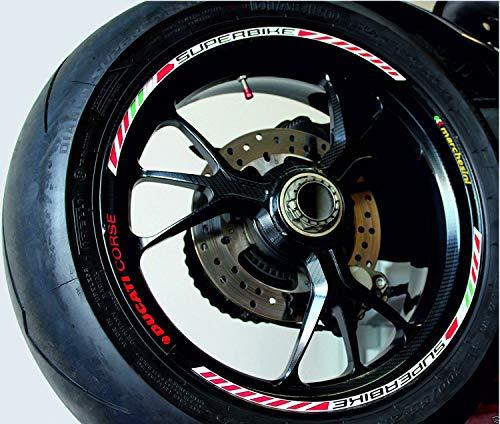 Aufkleber Roller Reifen für Modelle Ducati Profile _ Ducati Corse - Marchesini - Tricolor