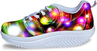 Cool High Platform Women's Toning Fitness Walking Shoes Sport Sneaker