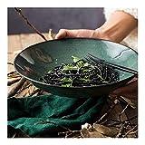 Tazón para Mezclar Sopa Grande Ramen Tazón para Fideos Ensalada de Frutas Mezcla de Verduras Tazón para Servir Filete Pasta Plato Hondo Vajilla de cerámica Creativa Horno Apto para microonda