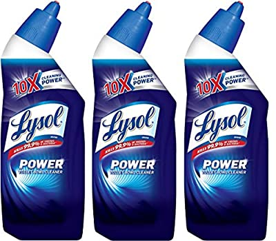 Lysol Power Toilet Bowl Cleaner, 10X Cleaning Power 8 oz (Pack of 3)