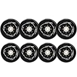 Damsale 8Pcs72mm+76mm Inline Skate Wheels Outdoor Asphalt Formula 85A Blades Freestyle Roller Skates Replacement Wheels with Speed Bearings ILQ-9 and Spacers