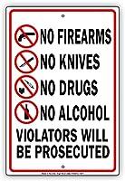 アルコール銃違反者は、アルミニウム標識金属ポスター壁芸術装飾を起訴されません