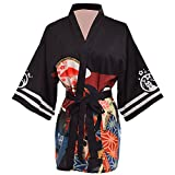 GRACEART Mujeres Vendimia Kimono Cubrir Arriba Cardigans Bata de Baño (M)
