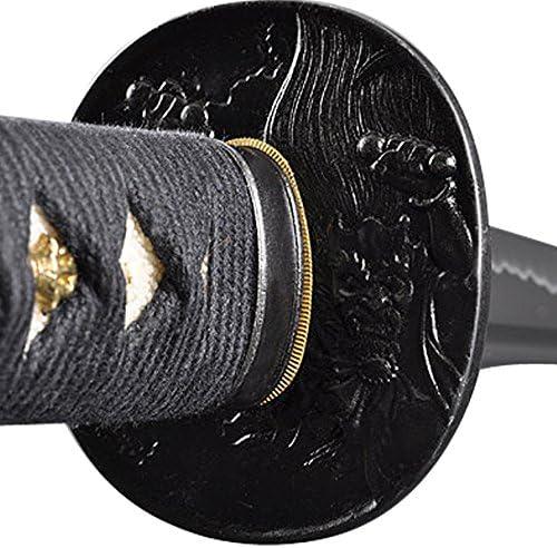Handmade Sword - Samurai Sword Katana, Functional, Hand Forged, 1045/1060 Carbon Steel, Heat Tempered/Clay Tempered, Full Tang, Sharp, Wooden Scabbard