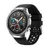 Reloj inteligente para hombre, Bluetooth, llamadas, deporte, monitor de fitness, frecuencia cardíaca, EKG, música, mujeres, para iOS y Android (color: negro plateado, tamaño: Q8 Smart Watch)