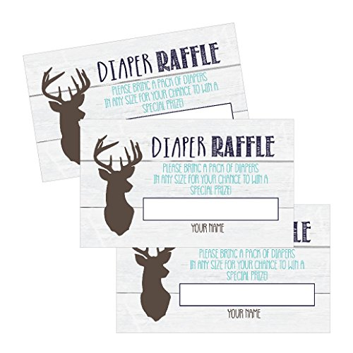25 Diaper Raffle Tickets for Baby Shower