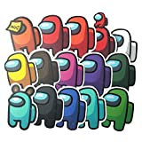 Fgolphd Entre Nosotros Pegatinas Juego Espacio De Juego De Copas De Nosotros Teléfono PDA Pegatinas Decorativas 15 Pegatinas (Color : Multi-Colored)