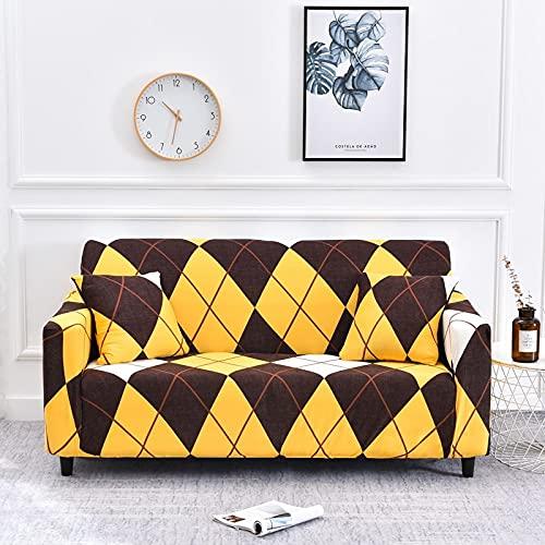 Funda de sofá Universal geométrica mágica Funda de sofá seccional de Spandex Funda de sofá de Dos plazas con Envoltura Ajustada Funda Antipolvo A11 2 plazas