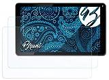 Bruni Schutzfolie kompatibel mit HannSpree HannsPad 101 Helios SN1AT76B Folie, glasklare Bildschirmschutzfolie (2X)