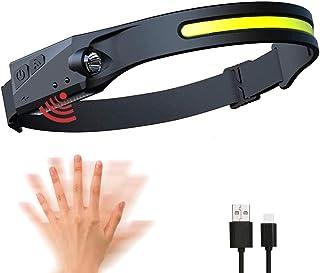 VASTFIRE Superheldere COB XPE 2 LED sensorkoplampen, 5 m USB oplaadbare waterdichte campinglamp, voor vissen, hardlopen, w...