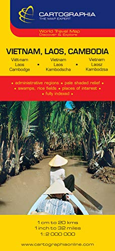 Mapa Cartographia Vietnam, Laos y Camboya (CARTES (20500)) (French Edition)