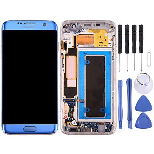 LCD-scherm vervangen LCD-scherm en Digitizer volledige montage met frame en opladen poort Board & volume knop & macht knop voor Galaxy S7 Edge / G935F(zwart), Blauw