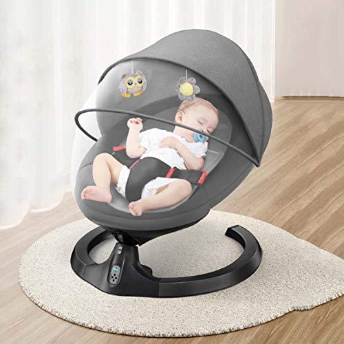 SHARESUN Balance Bouncer Swings Chair Bouncers Cradle Chair Baby Rocking Chair Recliner Chair Lazy Newborn Children Electric Baby Newborn Cradle Seat,Black