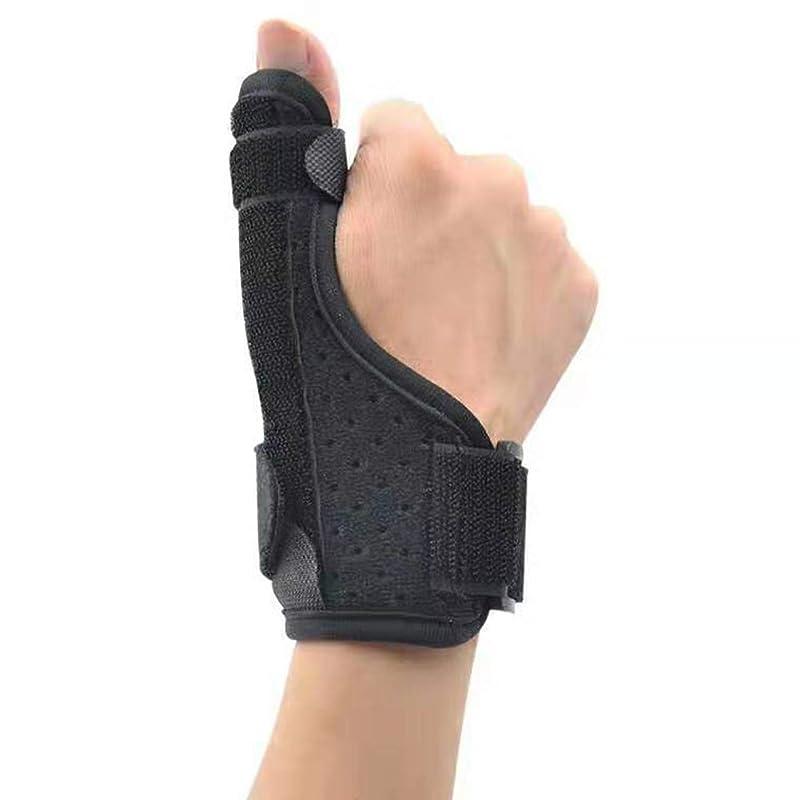 タンザニア他のバンドで学期腱鞘炎トリガー手根管人の女性のために修正された唯一の1個手首のサポートサムスプリント手首ブレース指アーマー親指捻挫破壊