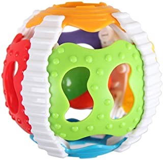 Anniston Kids Toys, Colorful Rattle Plastic Hand Bell Grip Ball Funny Newborn Baby Infant Toy Gift Baby Toys for Children ...