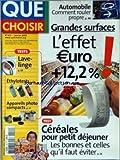 QUE CHOISIR [No 422] du 01/01/2005 - AUTO - COMMENT ROULEZ PROPRE - GRANDES SURFACES...