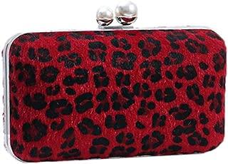 Women Leopard Handbag Classic Classic Elegant Wedding Cocktail Clutch Bags