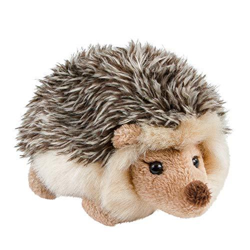 Teddys Rothenburg Kuscheltier Igel Graubraun liegend 12 cm Stoffigel Plüschigel Stofftier Plüschtier Kuscheltier Baby Kinder Spielzeug