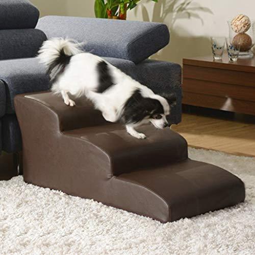 Tiertreppe BWZF Pet Stairs Steps Ramp für große/kleine Hunde/Katzen, wasserdichte 3-Stufen-Sicherheitsrampen für den Zugang zu Haustieren, Tragkraft 40 kg