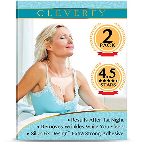 Cleverfy Chest Wrinkle Pads for Sleeping (2 Pack T-shape ) - Decollete Anti Wrinkle Chest Pads - Silicone Chest Wrinkle Pad - Anti Wrinkle Pads - Silicon Chest Wrinkle Pads for Chest Wrinkle Prevention