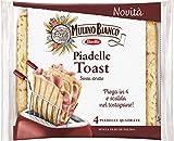 Mulino Bianco Piadelle Toast Senza Strutto, Senza Olio di Palma, 4 Piadelle Quadrate, 240 Grammi