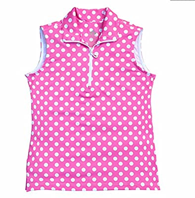Birdseed Golfwear® Big Girl's Print Sleeveless Golf Polo Shirt - NEW!