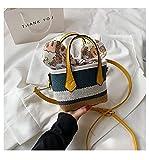 Bolsos casuales de paja a rayas para mujer,bolso pequeño de ratán,bolso bandolera tejida de mimbre,bolsos bandolera de verano para playa,mini monederos 16x12x10cm-2