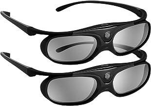 BOBLOV DLP Link 3D Glasses Active Shutter 144Hz Rechargeable for All DLP-Link 3D..