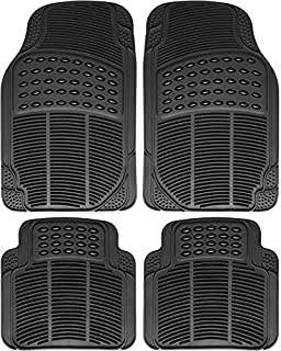 Johns FMB-24 (4pc Set) Black All-Weather Rubber Floor Mats