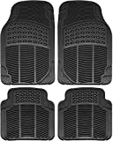 Motorup America Carpet Floor Mats Set, Black Heavy Duty Rubber Mats, All Weather Ptotection for All Vehicles, Cars, Trucks, Van and SUV
