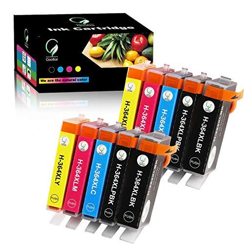 Gootior 364XL Compatibile HP 364XL Cartuccia d'Inchiostro, 10 Multicolore Compatibile per HP Photosmart 5520 5510 7510 6510, Premium C309g B010 B109a B110,HP Deskjet 3520 3070A,HP Officejet 4620 4622