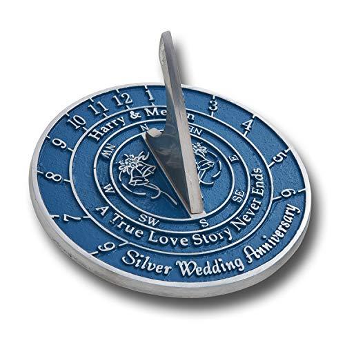 The Metal Foundry - Reloj de Sol para 25 Aniversario de Boda, Idea de Regalo es un Gran Regalo para él, para Ella o para una Pareja para Celebrar 25 años de Matrimonio