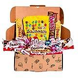 Caja regalo de bombones y chocolates - Kinder Bueno, Lacasitos, Toblerone, Lindt, Twix, Kinder Chocolate. Regalo original para cumpleaños, navidad y San Valentín
